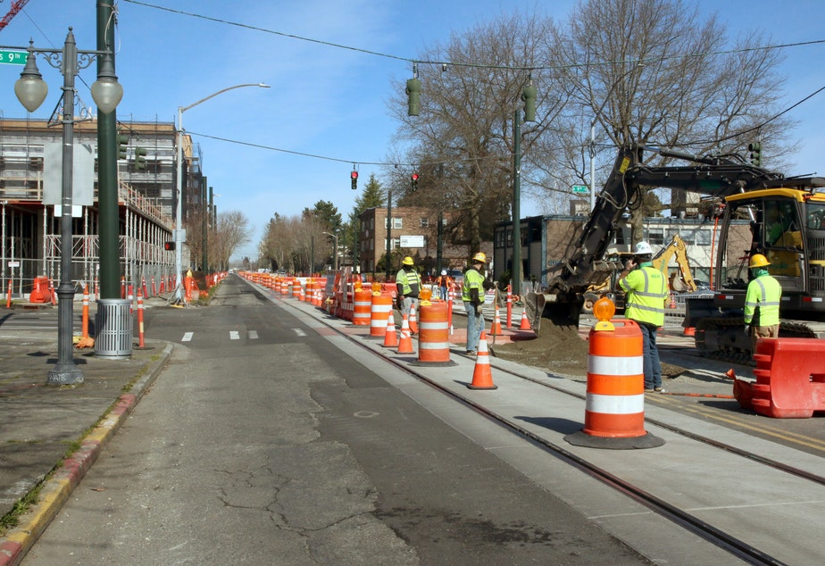caption: Sount Transit's extension of Tacoma's light rail system will connect Hilltop to downtown Tacoma