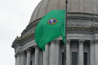 Washington state capitol flag Olympia legislature