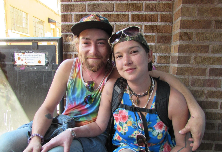 Sharon Larcey and her boyfriend live in their vehicle. Sharon said many of her friends would benefit from a supervised drug site.