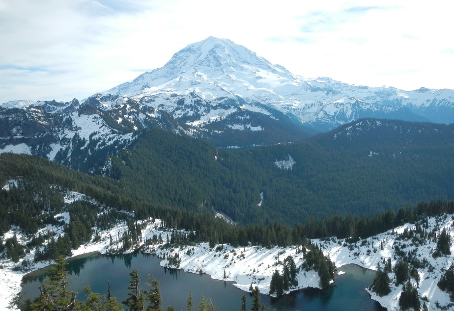 FILE: Mount Rainier as shown from Tolmie Peak, within the national park.