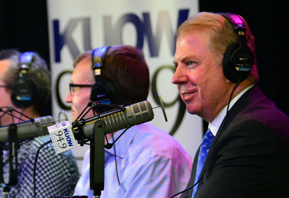 Mayor Ed Murray, right, on KUOW's Week in Review, our Friday news show.
