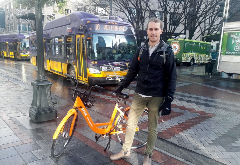 caption: Kyle Rowe wants bike sharing companies and cities to be true partners.