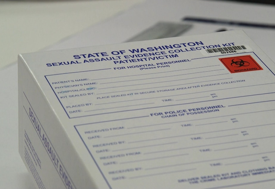 caption: A example of a box of rape evidence, stock photo from Washington State Patrol