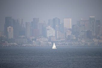 The smoke-shrouded Seattle skyline last week.