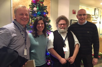 L-R: John Carlson, Jessyn Farrell, Knute Berger, C.R. Douglas