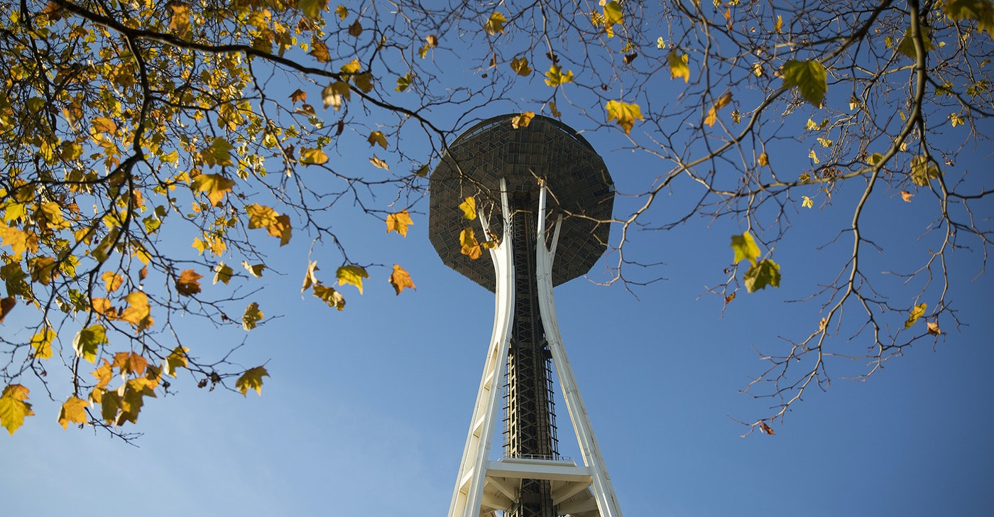 The main portion of the Space Needle's Century Project construction will be complete in May of 2018.