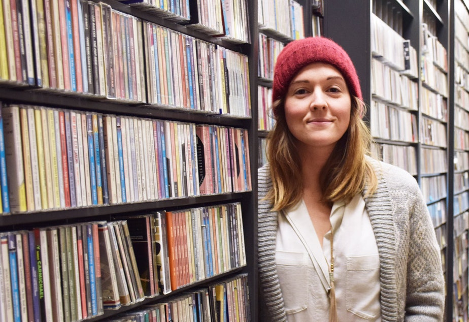 Brandi Carlile in the KUOW studios on December 1, 2016.