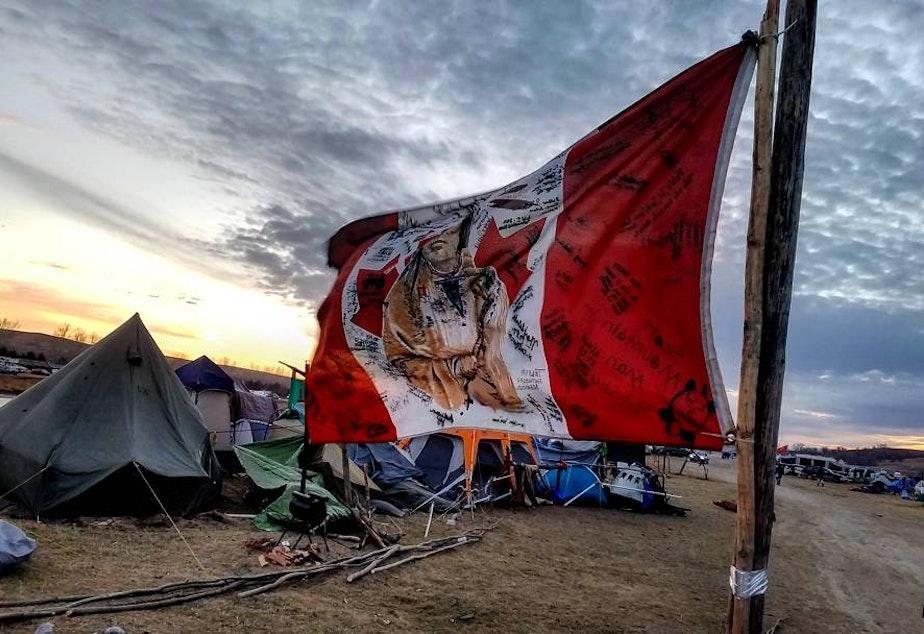 caption: At Standing Rock, North Dakota.