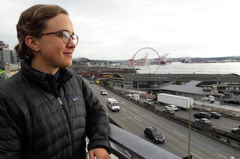 Madeline Feig of Commute Seattle gives free commute advice to businesses impacted by the viaduct closure in January.