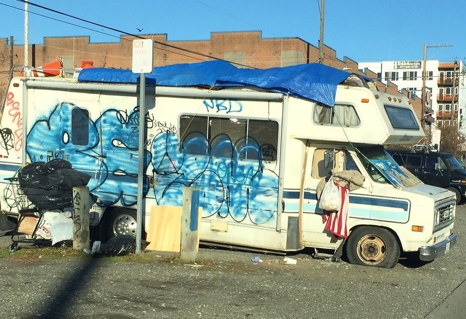 An RV in Ballard submitted to Seattle's Find It, Fix It app in 2016.