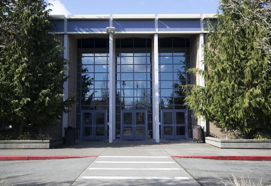 caption: Hazen High School is shown on Wednesday, March 4, 2020, in Renton.
