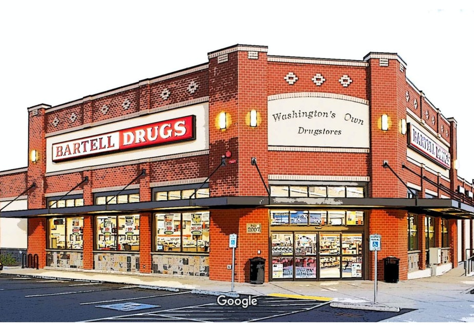 caption: Soon this location of Washington's own drugstores will be no more.