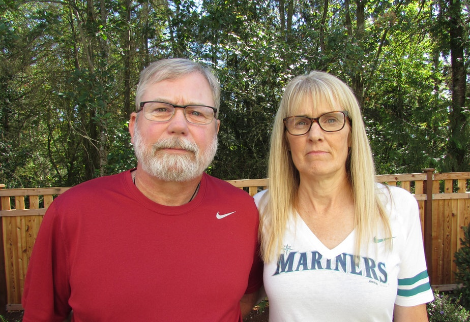 caption: Matt Smith and Marilyn Balcerak say extreme risk protection orders would help families when someone is thinking of suicide.