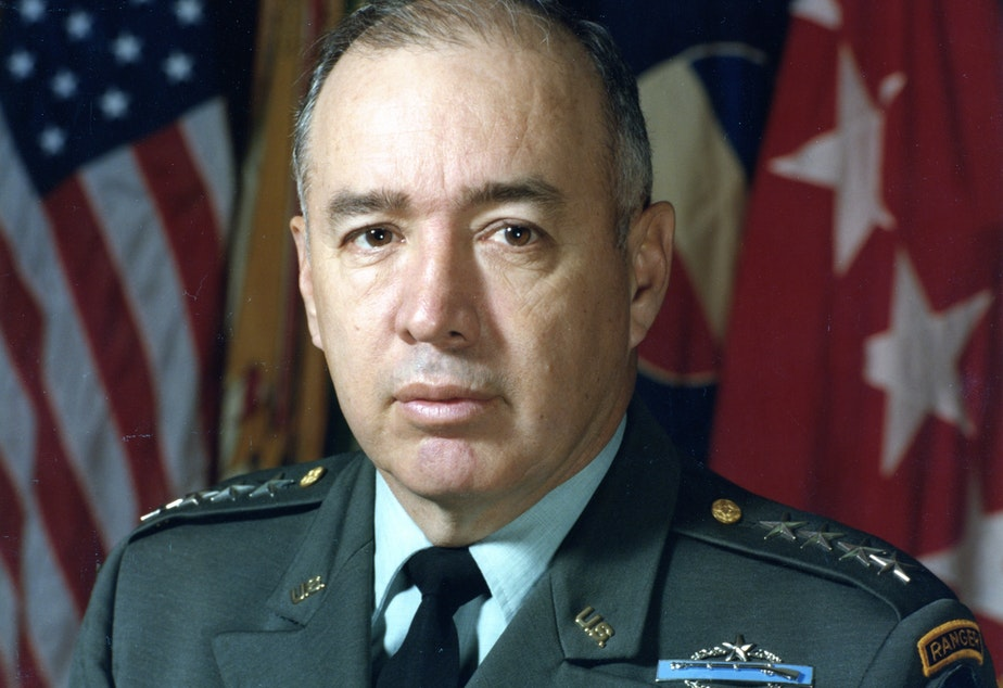 caption: The late Gen. Richard E. Cavazos was the first Hispanic American promoted to the rank of four-star general.