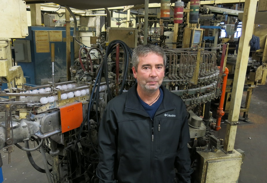 Jeff Anderson worked at LEDVANCE's light bulb factory in St. Marys, Pennsylvania for more than 20 years. He's considering a career change to heavy equipment operator.