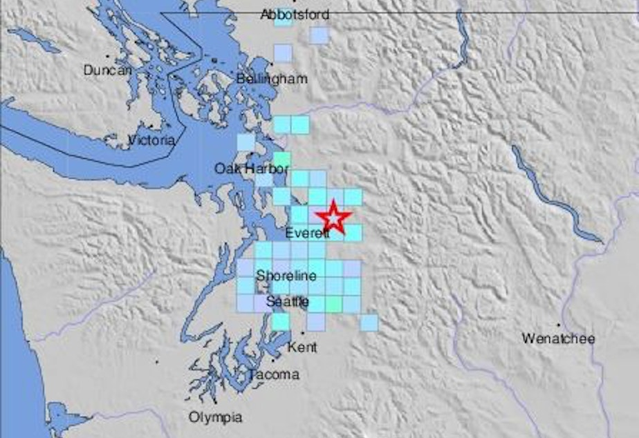 A screenshot from the USGS Earthquake Hazards website shows reports of shaking from a quake that struck at 2:51 a.m. Friday, July 12, 2019.