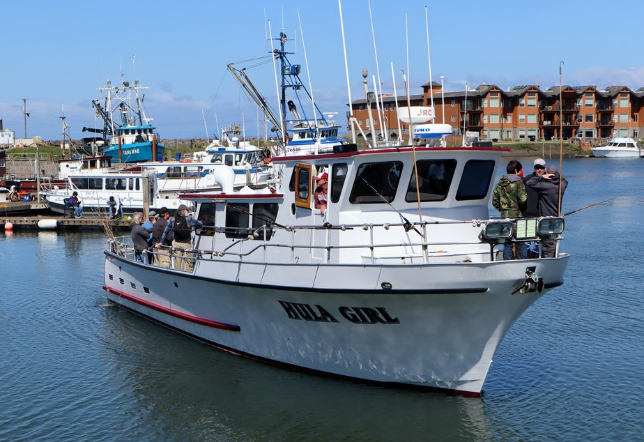 Hula Girl is one of the remaining vessels in the Westport, Washington charter sport fishing fleet.