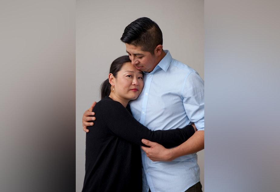 caption: Keiko Maruyama and Jaime Rubio Sulficio pose for a portrait.