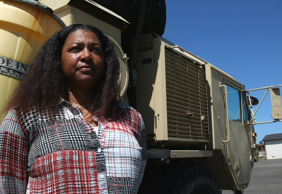 caption: Sergeant Major Sheletha Quillin Howard is a Resource Manager for the U.S. Government