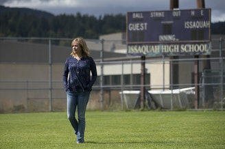 Freya Thoreson poses for a portrait on the sports field in between Issaquah Middle School and the Sportmen's Gun Range on Tuesday, September 11, 2018, in Issaquah.