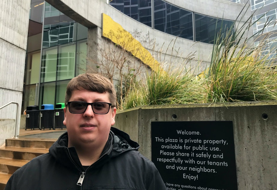caption: Jacob McCarthy is a software engineer at Amazon who supports Bernie Sanders for President