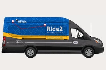Ride2 Park and Ride vehicle operated by Chariot for King County Metro