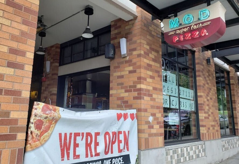 caption: MOD Pizza's University District location, one of 475 nationwide