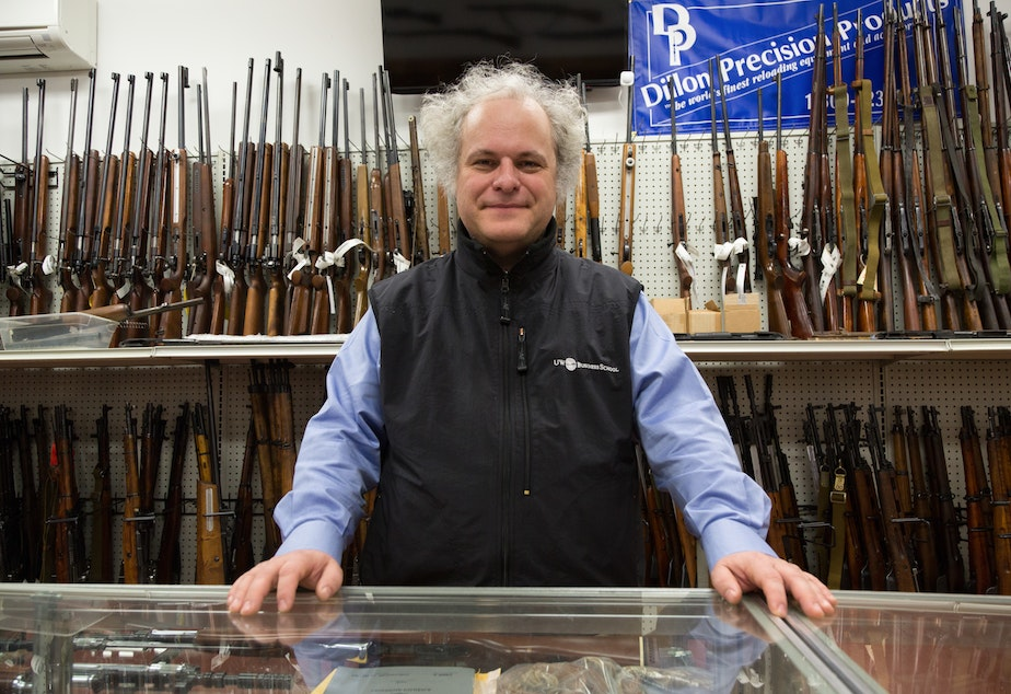caption: Sergey Solyanik is originally from the Soviet Union. He didn't own guns until 2007. Now Solyanik, owner of Precise Shooter and Microsoft developer, has an impressive collection of more than 1,000 guns.