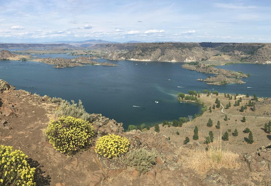 caption: Steamboat Rock State Park is one of more than 100 Washington parks slated to reopen on Tuesday, May 5.