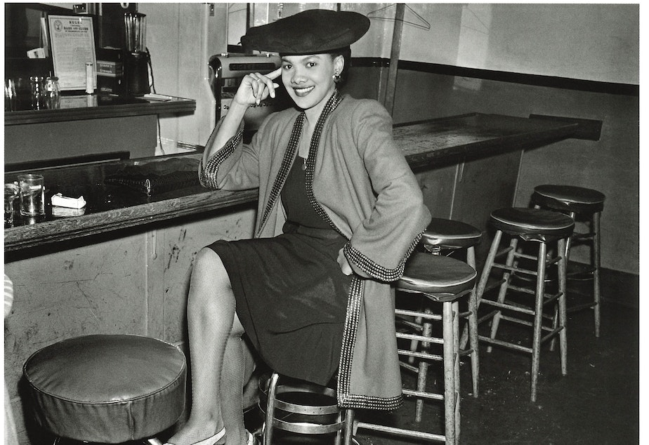 Unidentified woman at the Black and Tan, around 1944. (To help us ID this woman, note the photo number. This is #6.)