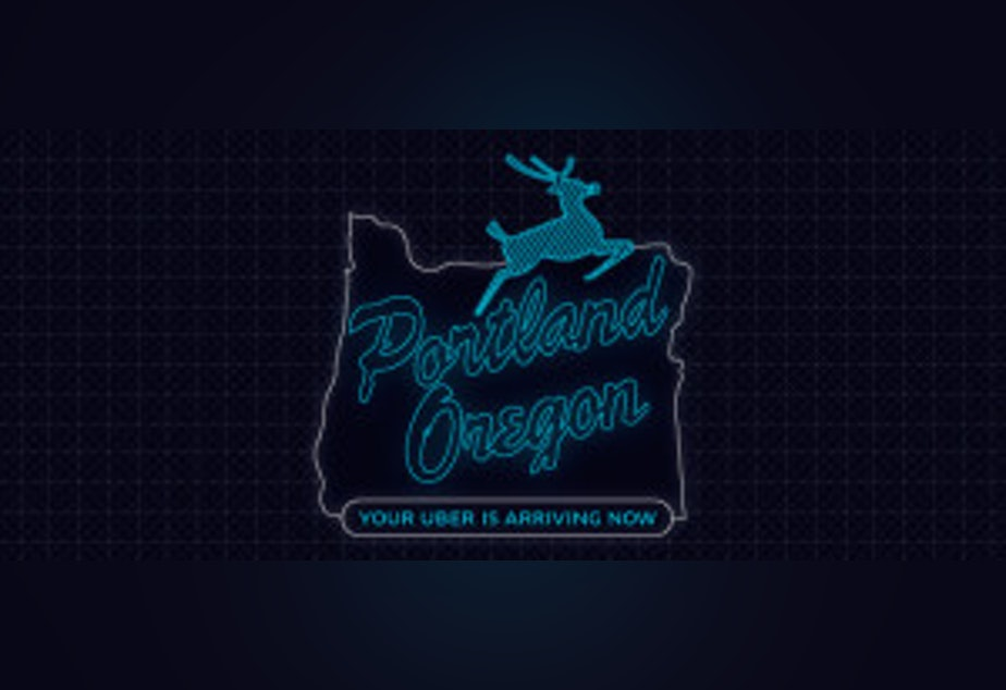 caption: Uber modified the Portland City Mark (as seen here), prompting a cease-and-desist letter from the City of Portland for trademark violation. It was one of a number of legal actions taken against the company. Uber has since removed the image from their blog