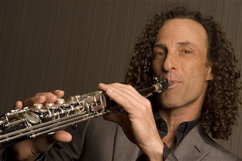 Jazz musician Kenny G poses for a portrait at Jazz at Lincoln Center in New York.