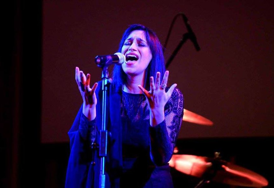 caption: Sarah Aroeste has dedicated her life to writing and performing songs in the Ladino language