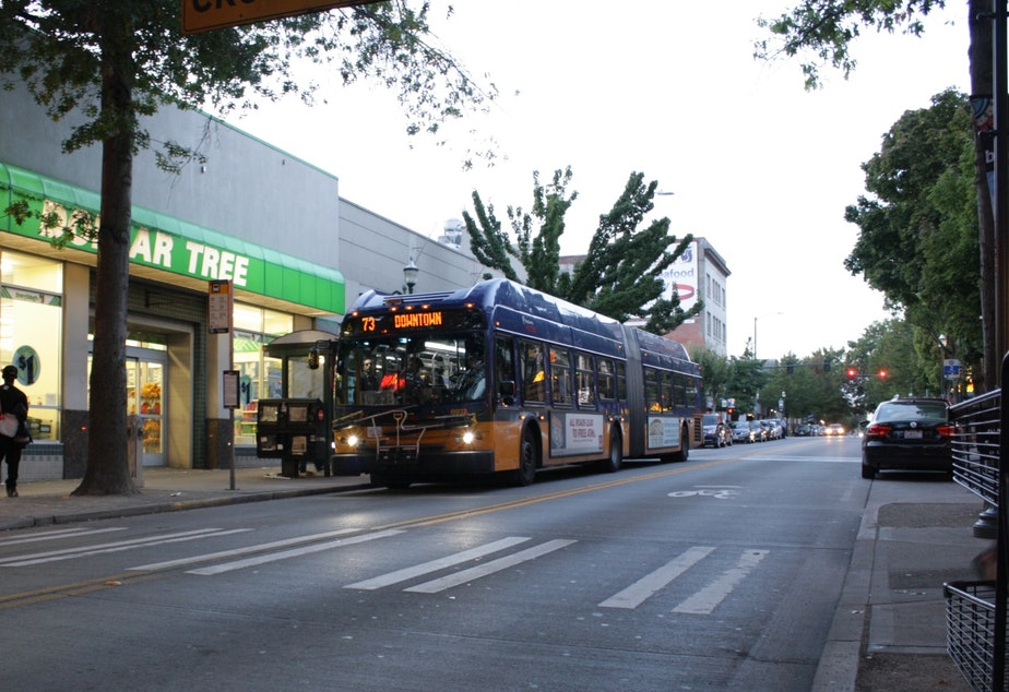 The 73 currently runs from north Seattle to downtown via the U-District. Under the new plan, riders will have to transfer to light rail to get downtown, which can't get snarled in traffic. Some buses will still go downtown during peak periods.