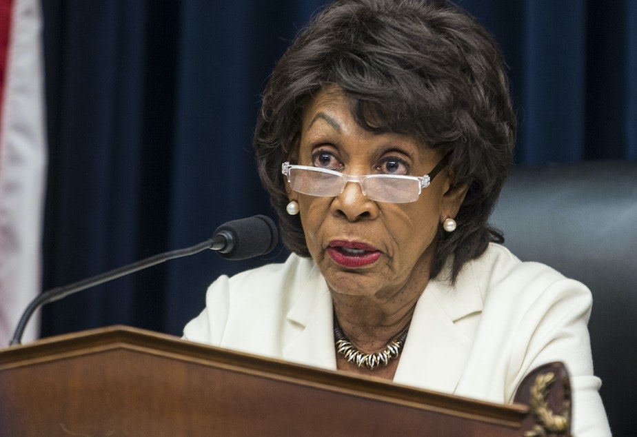 caption: The House Financial Services Committee, led by Rep. Maxine Waters, D-Calif., will grill the heads of seven bank CEOs about the stability of the financial system a decade after the crash.