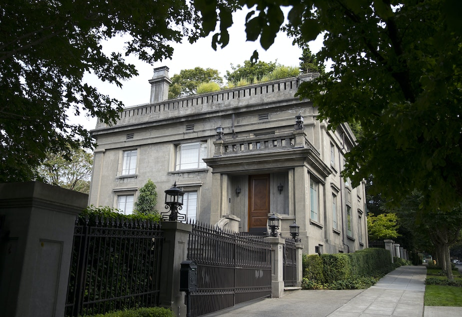 caption: The Sam Hill mansion on Capitol Hill is on the market for $15 million.