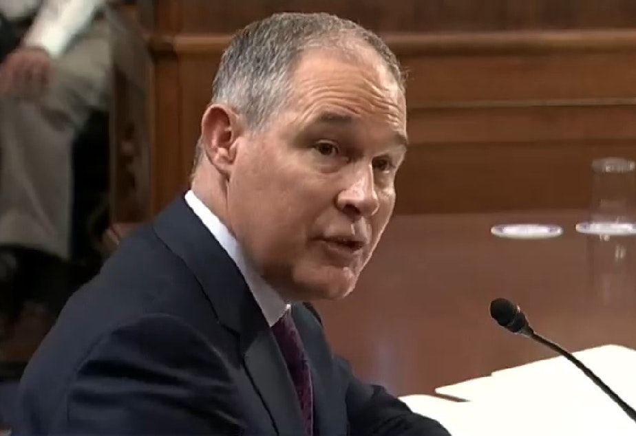caption: Oklahoma Attorney General and EPA Administrator nominee Scott Pruitt