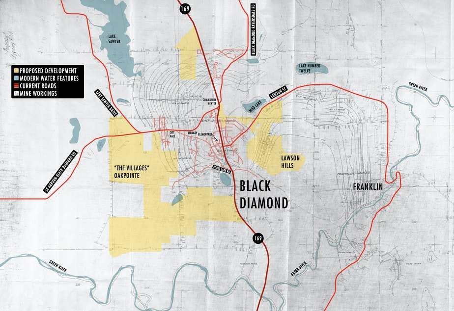 KUOW - Those new Black Diamond houses could be built atop ... Mine Map on