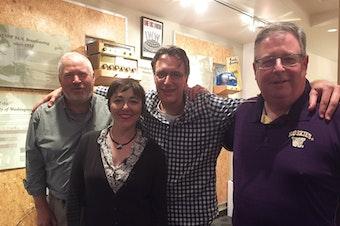 Mike McGinn, Erica Barnett, Bill Radke, Chris Vance [L-R]