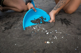 Microplastics are not just showing up on beaches like this one in the Canary Islands. They are showing up in human waste.