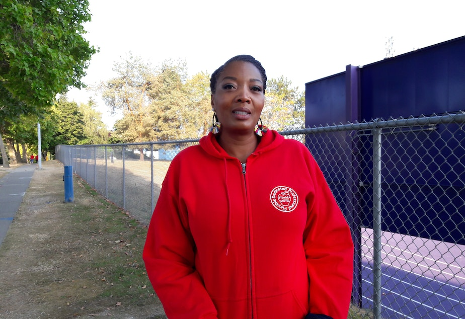 Nichelle Page has worked for Tukwila schools for 20 years. She says she never thought she'd see a strike.