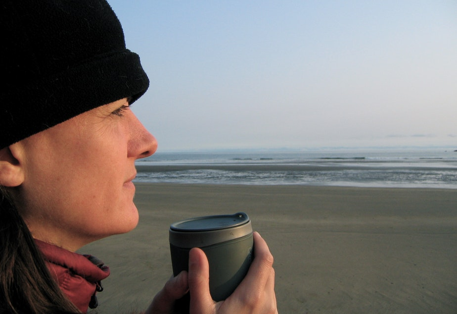 """caption: Poet and registered nurse Martha Kreiner says poetry gives her """"a wider container"""" for reflecting on her work with people who are homeless."""