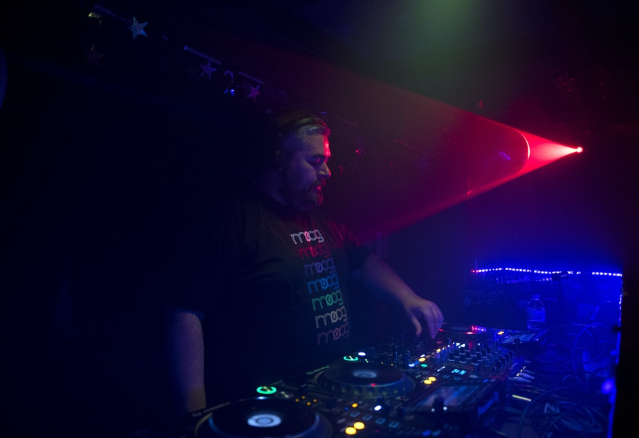 caption: DJ Truncate plays a show called 'Depth' at 12:50 a.m. on Saturday, June 15, 2019, at Kremwerk in Seattle.