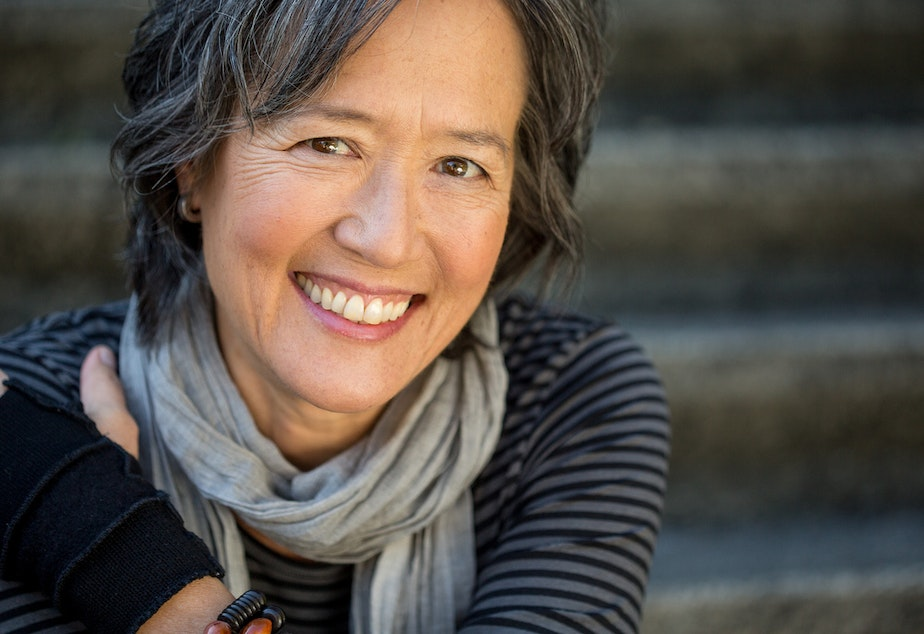 caption: Author Ruth Ozeki.