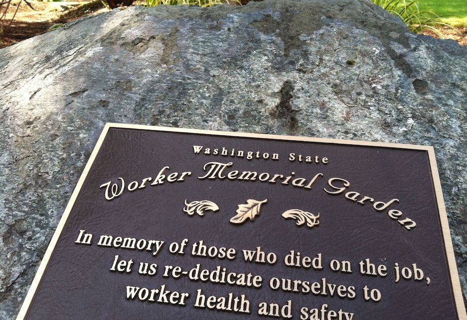 Washington state Worker Memorial Garden in Tumwater.