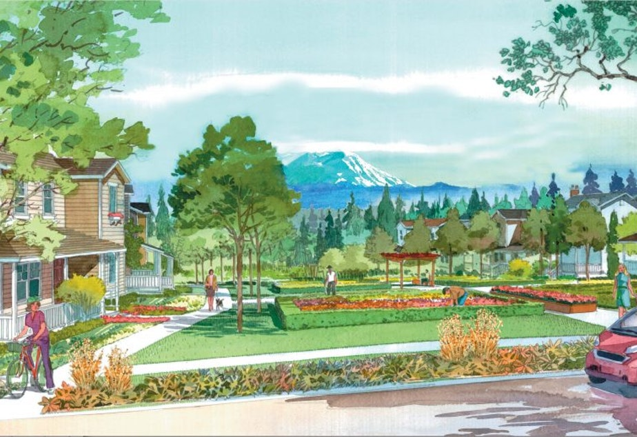 Artist's rendering of Oakpointe's 'Ten Trails' development