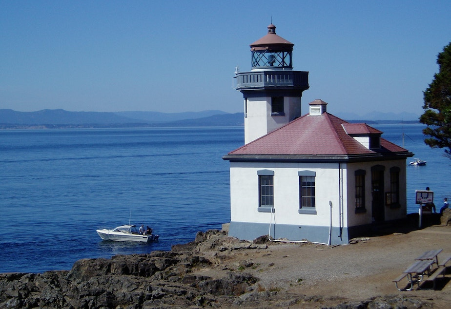 caption: Lime Kiln Point State Park on San Juan Island is expected to reopen next week, but mainlanders are not really welcome to travel there yet.