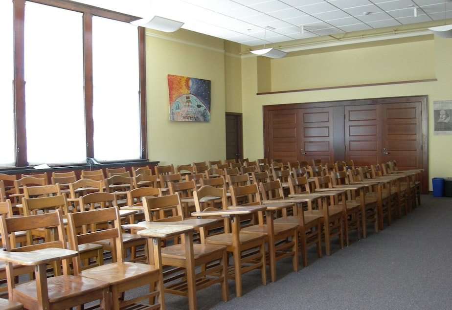 caption: Seattle classroom