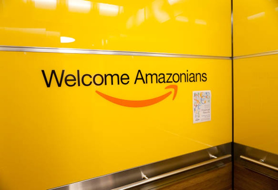 It's not just the elevators that have been welcoming at Amazon: their workforce has surpassed Microsoft for the first time.