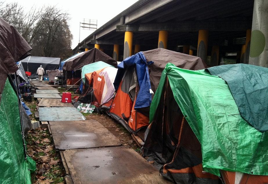 Tent City 3, under I-5 in Seattle's Ravenna neighborhood.